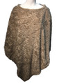New ! Ladies' Stylish  Poncho Taupe # P246-3
