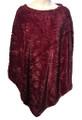 New ! Ladies' Stylish  Poncho Burgundy # P246-6