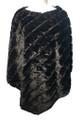 New! Elegant Women's - Faux Fur  Poncho  Cape Black # P247-1