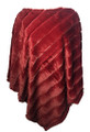 New! Elegant Women's - Faux Fur  Poncho  Cape Burgundy # P247-2