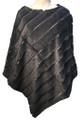 New! Elegant Women's - Faux Fur  Poncho  Cape Dark Gray # P247-3