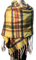 New !   Fashion Long Soft Plaid warm Shawl Scarf  Yellow # 986-7
