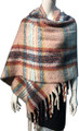 New !   Fashion Long Soft Plaid warm Shawl Scarf  Pink # 986-8