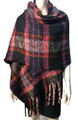 New !   Fashion Long Soft Plaid warm Shawl Scarf  Black # 986-9