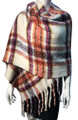 Copy of                                                                                              New !   Fashion Long Soft Plaid warm Shawl Scarf  Ivory # 986-10