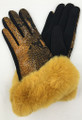 New! Fashion Touchscreen Snakeskin Print with Faux Fur Cuff Assorted dozen # G2106