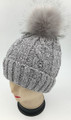 New! Chenille Beanie with Faux Fur Pom Assorted Dozen #H1280