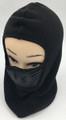 New! Unisex Fleece Neck Warmer Ski Face Mask With Breathable Mesh Mouth Black #H1286