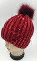 New! Fashion Sequin Beanie Red #H1276-6