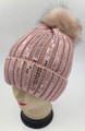 New! Fashion Sequin Beanie Pink #H1276-7