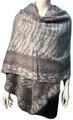 New !   Fashion Long Soft Plaid warm Shawl Scarf  Gray # 990-2