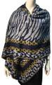 New !   Fashion Long Soft Plaid warm Shawl Scarf  Navy # 990-3