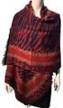 New !   Fashion Long Soft Plaid warm Shawl Scarf  Burgundy # 990-4