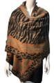 New !   Fashion Long Soft Plaid warm Shawl Scarf  Khaki # 990-6