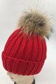 New! Knit Cable Beanie with Fox Fur Pom Assorted Dozen #H1277F