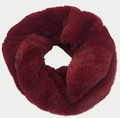 New! Cozy and Warm Faux Fur Cowl Neck Infinity Scarf Burgundy #S601-3