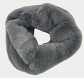 New! Cozy and Warm Faux Fur Cowl Neck Infinity Scarf Dark Gray #S601-6
