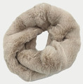 New! Cozy and Warm Faux Fur Cowl Neck Infinity Scarf Beige #S601-8