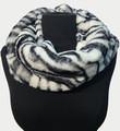 New! Cozy and Warm Zebra Faux Fur Cowl Neck Infinity Scarf White #S605-4