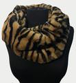 New! Cozy and Warm Zebra Faux Fur Cowl Neck Infinity Scarf Yellow #S605-5
