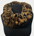 New! Cozy and Warm Leopard Faux Fur Cowl Neck Infinity Scarf Light Yellow #S605-1