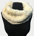 New! Cozy and Warm Faux Fur Cowl Neck Infinity Scarf Ivory #S606-3