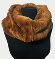 New! Cozy and Warm Faux Fur Cowl Neck Infinity Scarf Caramel #S606-9
