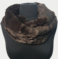 New! Cozy and Warm Faux Fur Cowl Neck Infinity Scarf Coffee #S606-10