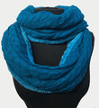 New! Knit Warm Cable Design With Faux Fur Lining Infinity Scarf Assorted Dozen #S1226