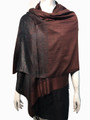 New! Metallic Pashmina Coffee Dozen #35-4
