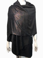 New! Metallic Pashmina Black Dozen #35-5