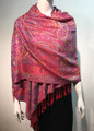 New!  Pashmina Multicolor Red Dozen #1022-3