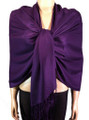 Pashmina Solid Purple #2-26
