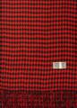 Cashmere Feel Houndstooth Scarves Red / Black K 72-4