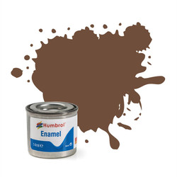 HUMBROL 98 Chocolate Matt Enamel 14ml Model Kit Paint