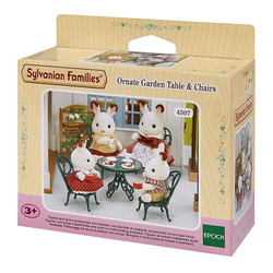 Ornate Garden Table & Chairs - SYLVANIAN Families Figures Dolls Furniture 4507