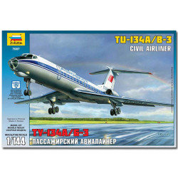 ZVEZDA 7007 Tupolev Tu-134b Military Model Kit 1:144