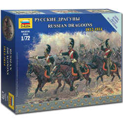 ZVEZDA 6811 Russian Dragoons Napoleonic 1:72 Figures Model Kit