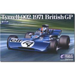 EBBRO 20008 Tyrrell 002 British GP 1971 Cevert 1:20 Car Model Kit Tamiya E008