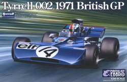 EBBRO 20008 Tyrrell 002 British GP 1971 Cevert 1:20 Car Model Kit Tamiya E008