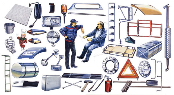 ITALERI Truck Shop Accessories 764 1:24 Model Kit