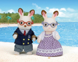 SYLVANIAN Families Chocolate Rabbit Grandparents 5190