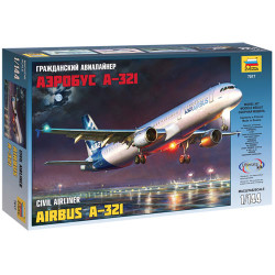 ZVEZDA 7017 Airbus A-321 1:144 Aircraft Model Kit