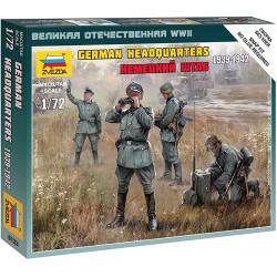ZVEZDA 6133 German Army Headquarter WWII 1:72 Military Model Kit