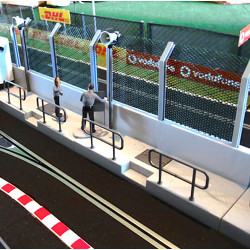 SLOT TRACK SCENICS PW 1x Pit Wall Section - for Scalextric