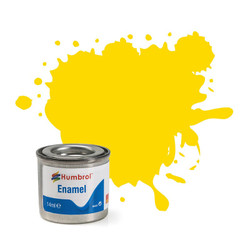 HUMBROL 69 Yellow Gloss Enamel 14ml Model Kit Paint