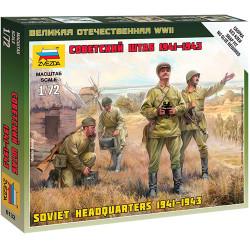 ZVEZDA 6132 Soviet Army Headquarters 41-43 1:72 Snap Fit Military Model Kit