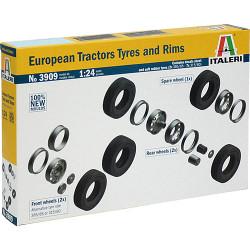 ITALERI 3909 European Tractor Tyres & Rims 1:24 Truck Model Kit