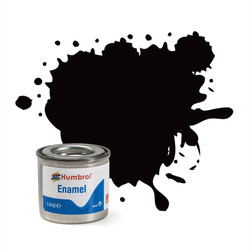 HUMBROL 85 Coal Black Satin Enamel 14ml Model Kit Paint