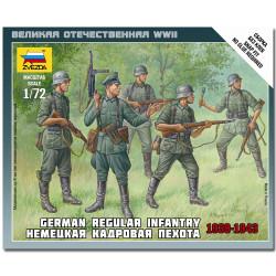ZVEZDA 6178 German Regular Infantry 1939-43 Snap Fit Model Kit 1:72